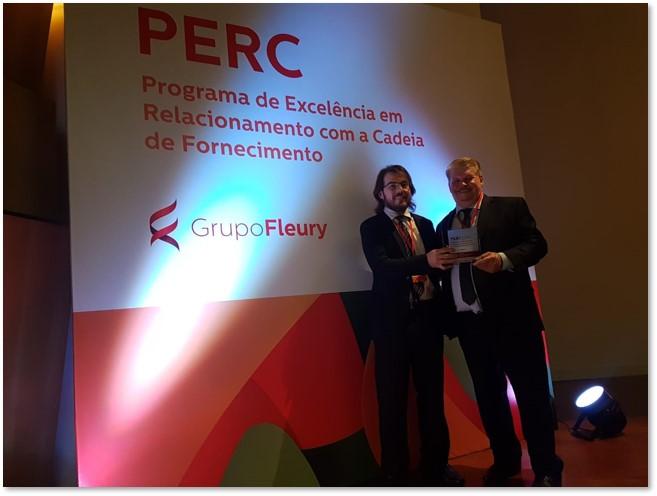 Reconhecidos pelo Grupo Fleury como a melhor empresa na categoria Logística e Transportes do Perc 2019. Além disso, conquistamos o segundo lugar na categoria Serviços.
