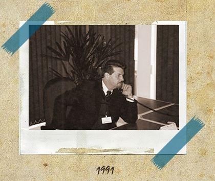 Foto antiga de Argemiro Frigi, presidente do Grupo Master Express