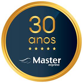 Logo de 30 anos do Grupo Master Express