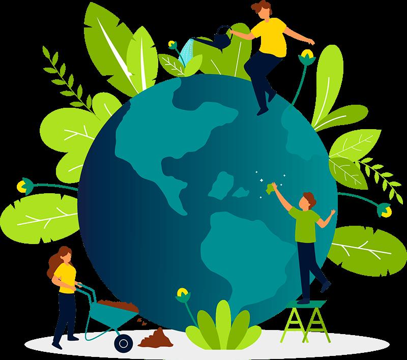 Sustentabilidade protegendo o planeta