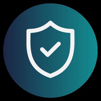 Ícone integração e certificação de segurança